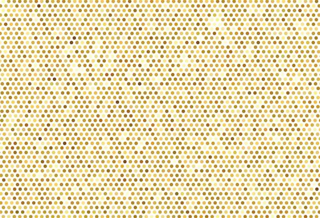 Abstrakcjonistyczny Złoty Kropkowany Deseniowy Tło Darmowych Wektorów