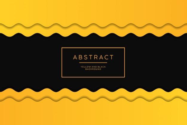 Abstrakcjonistyczny żółty I Czarny Tło. Premium Wektorów