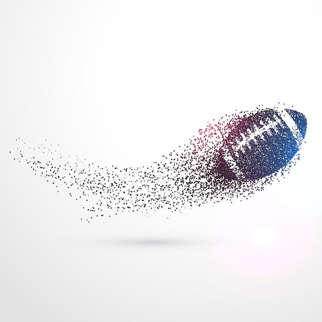 Abstrakcyjna Ball Rugby Latania Z Cząstek Fali Darmowych Wektorów