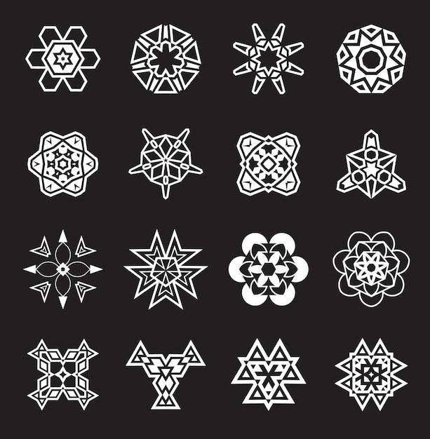 Abstrakcyjne Elementy Geometryczne, Wzór Etnicznych Azteków Lub Majów Premium Wektorów