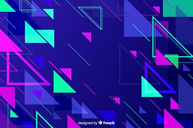 Abstrakcyjne kształty geometryczne wielokątów tło Darmowych Wektorów