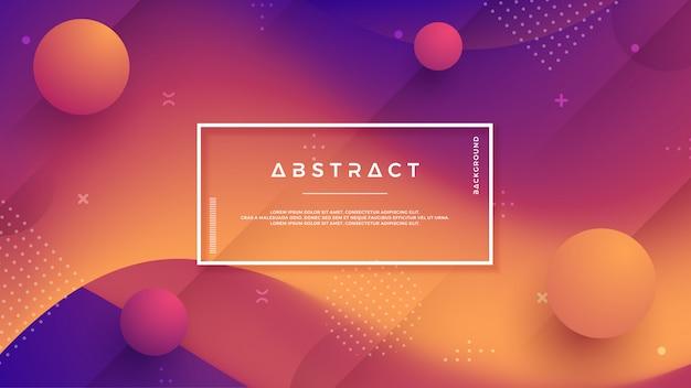 Abstrakcyjne, Nowoczesne, Dynamiczne, Modne Tło Gradientowe Premium Wektorów