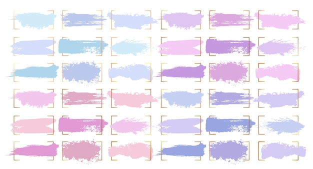 Abstrakcyjne Pociągnięcia Pędzlem, Pastelowe Plamy Koloru Darmowych Wektorów