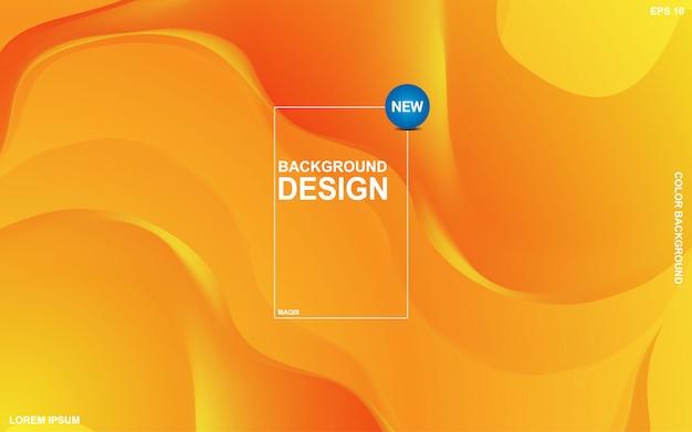 Abstrakcyjne tło płynnego motywu z pomarańczowym kolorem sunsite. nowoczesny minimalny eps 10 Premium Wektorów