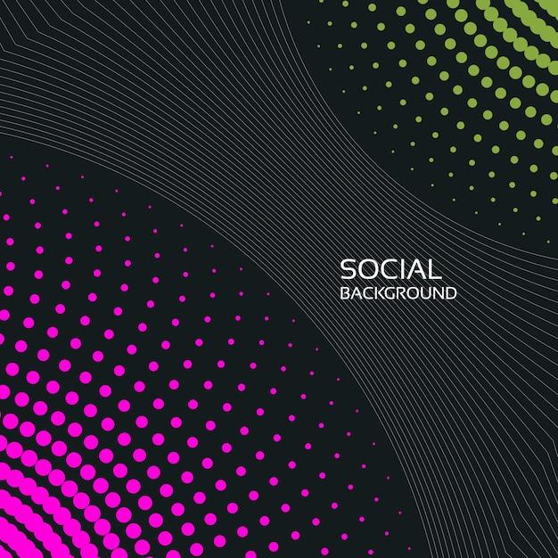 Abstrakcyjne Tło Społeczne 2019 Premium Wektorów