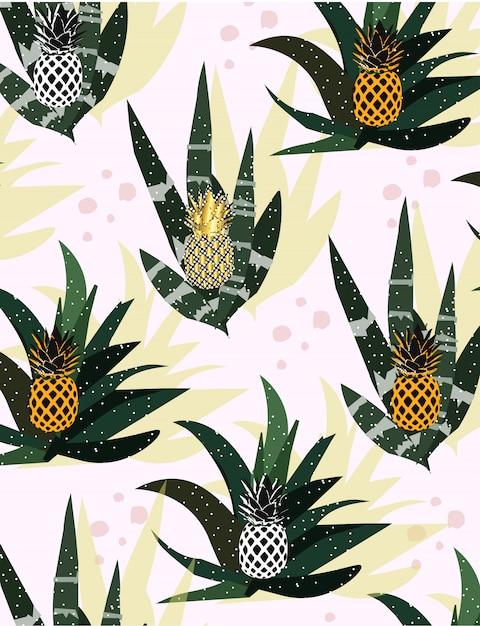 Abstrakcyjny ananas Premium Wektorów