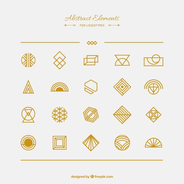 Abstrakcyjny Element Kolekcja Dla Logotypów Darmowych Wektorów