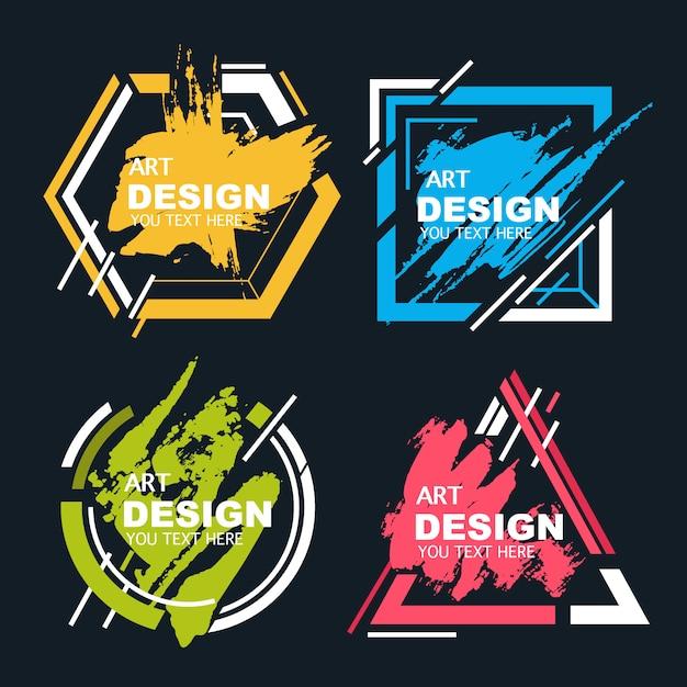 abstrakcyjny kształt z banerów splash akwarela Darmowych Wektorów