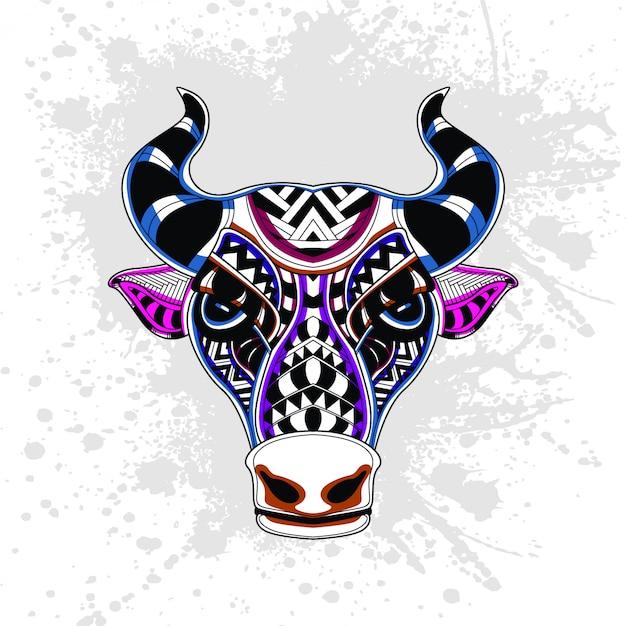 Abstrakcyjny Wzór Krowy Premium Wektorów