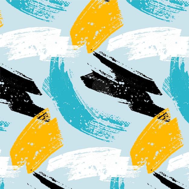 Abstrakcyjny Wzór Obrysu Pędzla Premium Wektorów
