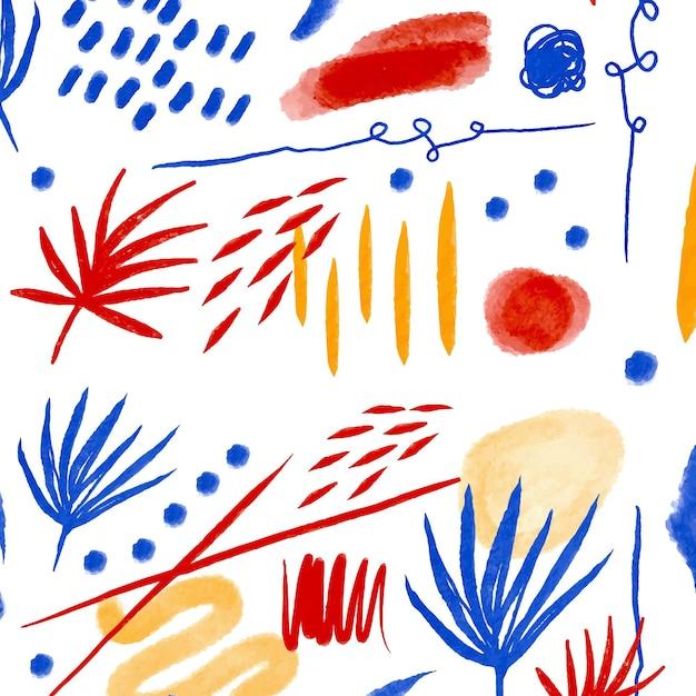 Abstrakcyjny Wzór Obrysu Pędzla Darmowych Wektorów