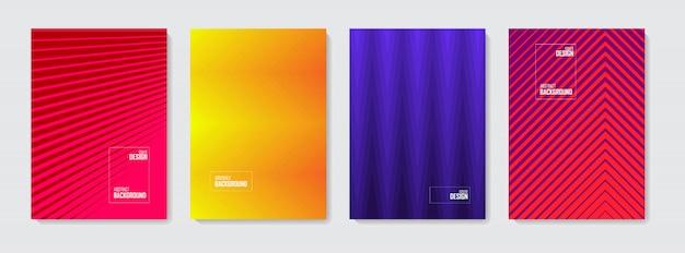 Abstrakcyjny Wzór Tła. Zestaw Kolorów Abstrakcyjnych Kształtów, Streszczenie Tło. Premium Wektorów