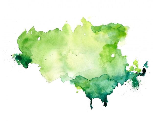 Abstrakt Akwareli Plamy Tekstury Zielony Tło Darmowych Wektorów