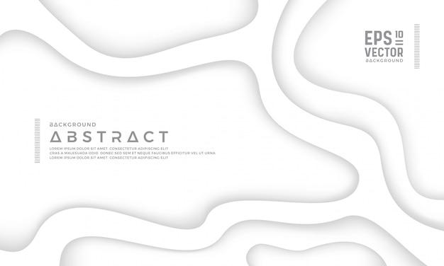 Abstrakta Biały Papierowy Rżnięty Tło Premium Wektorów