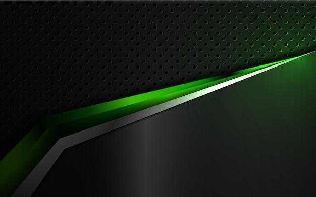 Abstrakta Kształty Zielony I Czarny Kruszcowy Tło Premium Wektorów