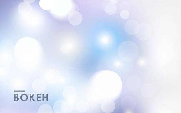 Abstrakta światła Srebra Bokeh Tło Premium Wektorów