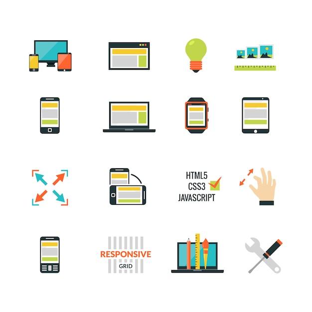 Adaptive responsive web design Darmowych Wektorów