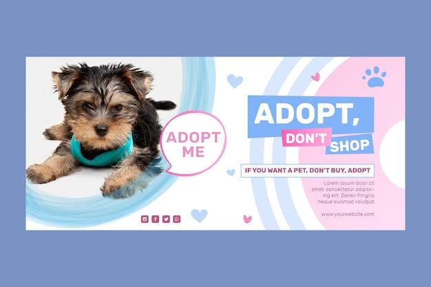 Adoptuj Zwierzaka, Nie Kupuj Szablonu Banera Darmowych Wektorów