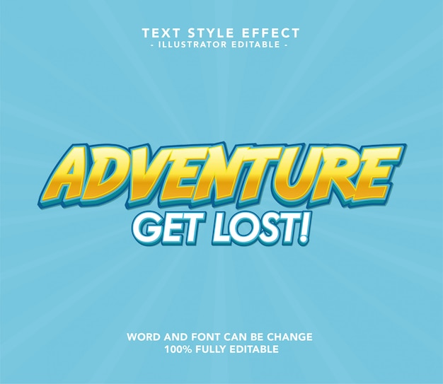 Adventure Font Premium Wektorów