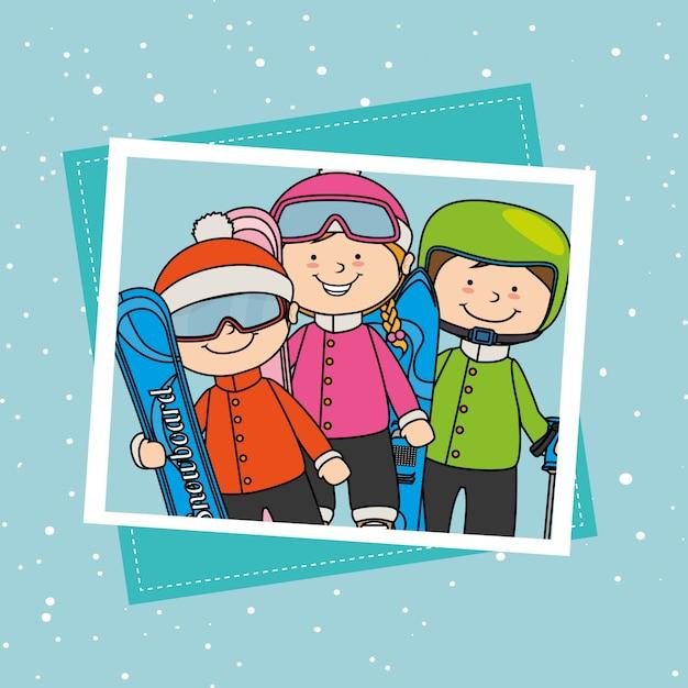 Akcesoria do sportów zimowych i odzieży Darmowych Wektorów