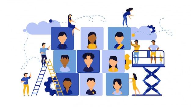 Akcydensowa kariera biznesowego sukcesu agenci widowni ilustracyjna. Premium Wektorów