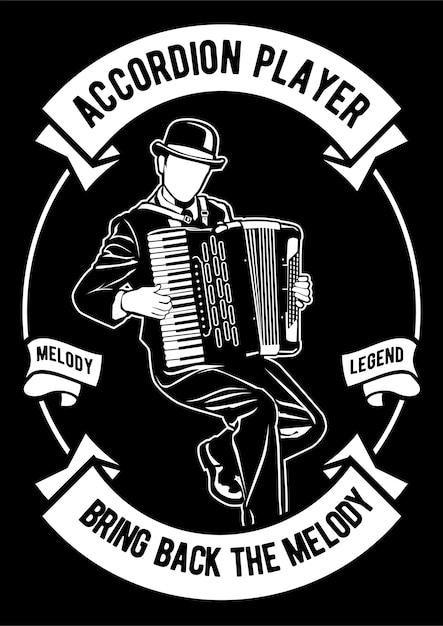 Akordeonista Premium Wektorów