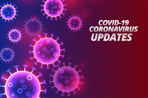 Aktualizacje Koronawirusa Covid-19 I Projekt Tła Wiadomości Darmowych Wektorów
