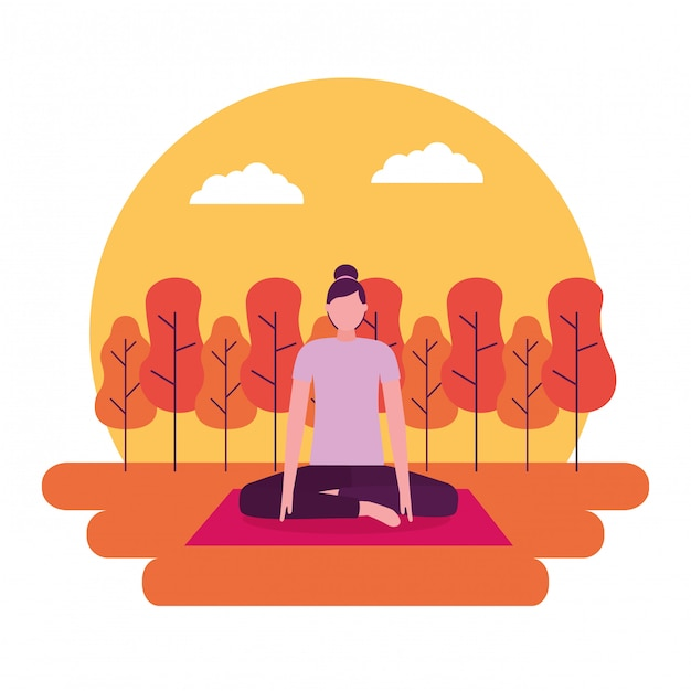 Aktywność jogi ludzi Darmowych Wektorów