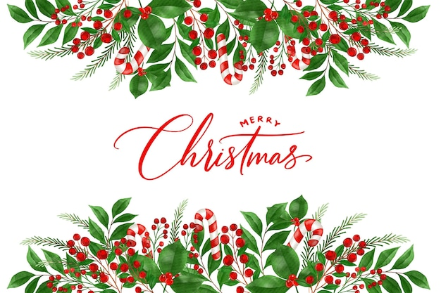 Akwarela Boże Narodzenie Tło Darmowych Wektorów