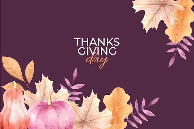 Akwarela Dziękczynienia Tło Darmowych Wektorów