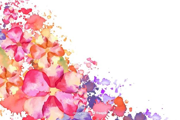 Akwarela egzotyczne kolorowe tło kwiatowy Darmowych Wektorów