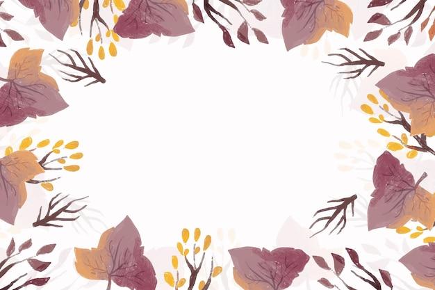 Akwarela Jesień Liście Tło Darmowych Wektorów