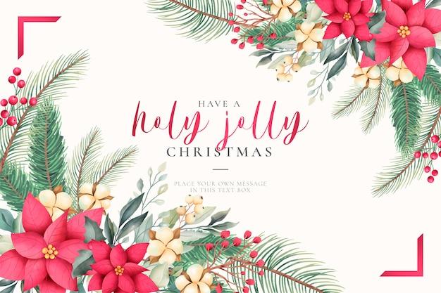 Akwarela kartki świąteczne pozdrowienia z pięknej przyrody Darmowych Wektorów