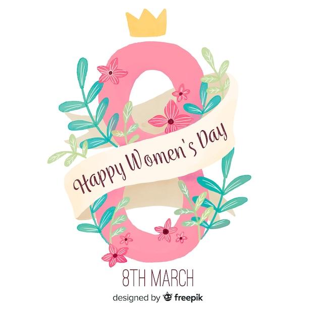 Akwarela kobiet dzień tło Darmowych Wektorów