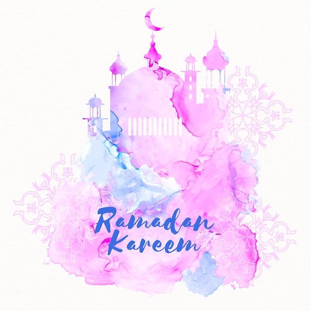 Akwarela Koncepcja Ramadanu Darmowych Wektorów