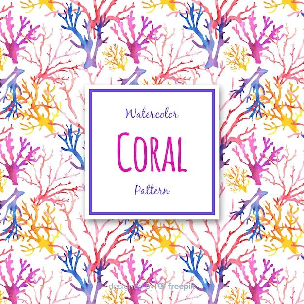 Akwarela Koralowy Tło Darmowych Wektorów