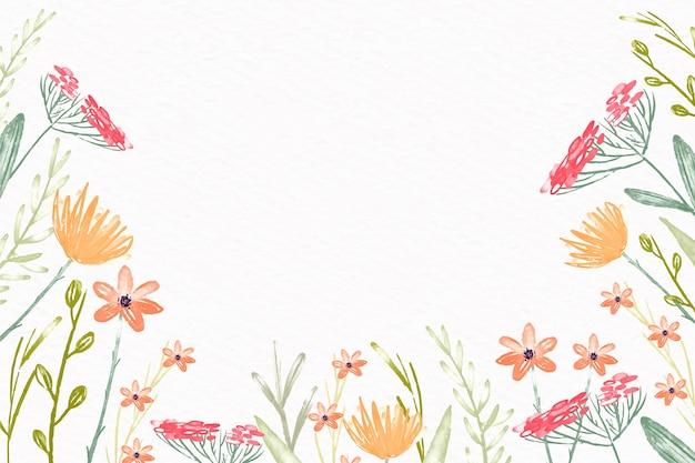 Akwarela Kwiaty Tapety W Pastelowych Kolorach Darmowych Wektorów