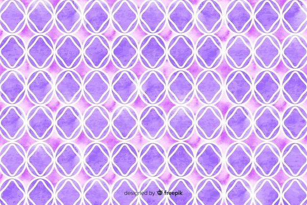 Akwarela Mozaika Tło W Odcieniach Fioletu Darmowych Wektorów