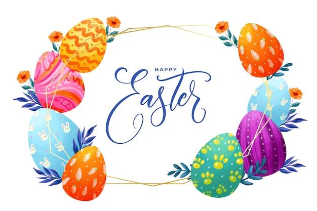 Akwarela Obraz Wielkanocny Darmowych Wektorów
