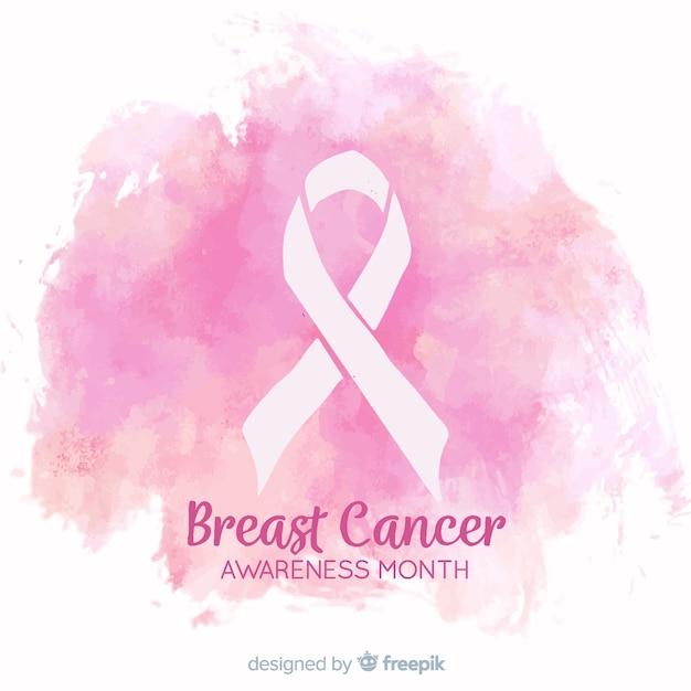 Akwarela projekt świadomości raka piersi Darmowych Wektorów