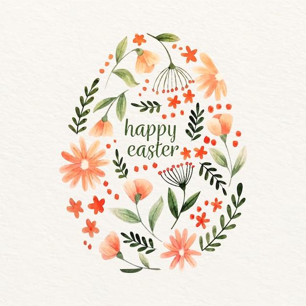 Akwarela Projekt Wielkanocny Szczęśliwy Darmowych Wektorów