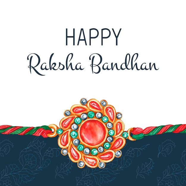 Akwarela Raksha Bandhan Koncepcja Darmowych Wektorów