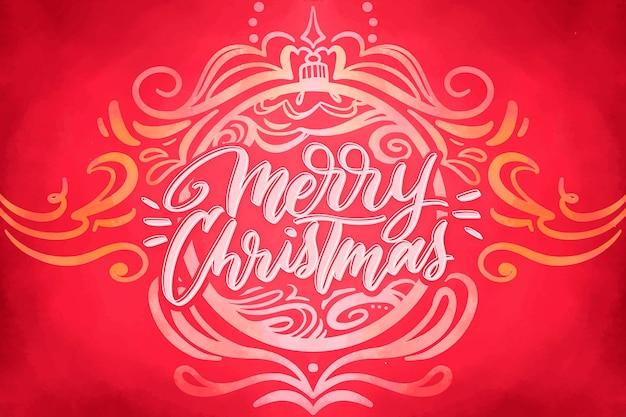 Akwarela świąteczne Tło Boże Narodzenie Darmowych Wektorów