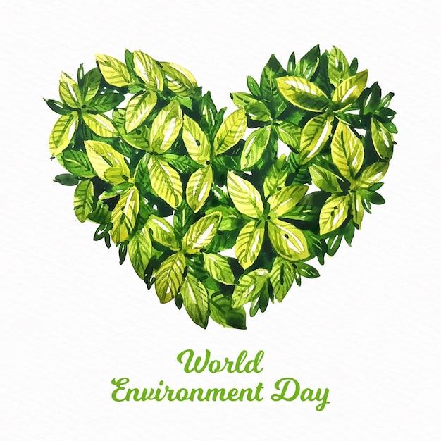 Akwarela światowy Dzień środowiska Darmowych Wektorów