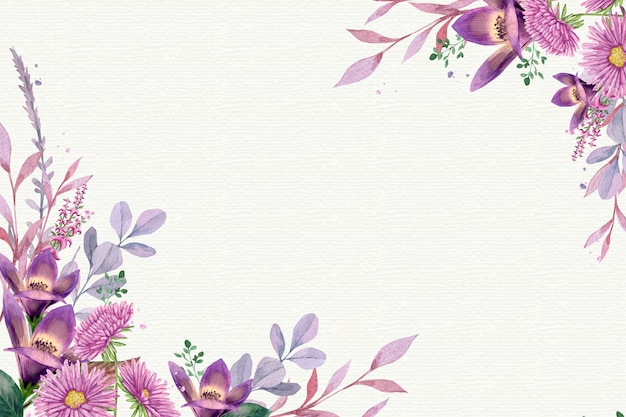 Akwarela Tle Kwiatów W Pastelowych Kolorach Premium Wektorów