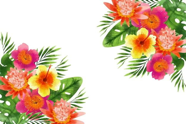 Akwarela Tle Kwiatów Darmowych Wektorów