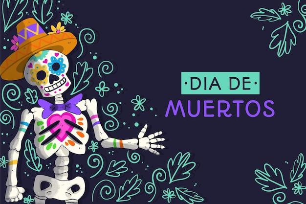 Akwarela Tło Día De Muertos Darmowych Wektorów