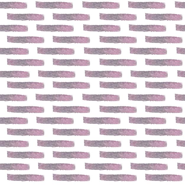 Akwarela Wektor Cegieł Wzór. Streszczenie Ręcznie Malowane Akwarela Wektor Na Białym Tle Różowe I Szare Cegły Wzór Tła Premium Wektorów
