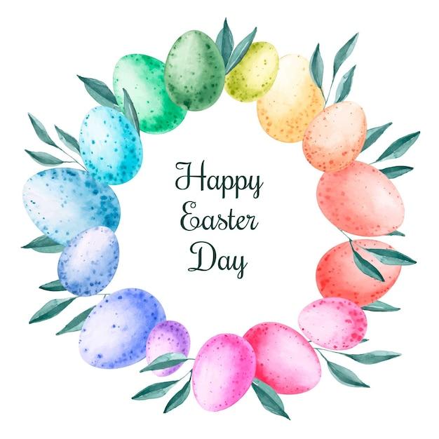 Akwarela Wesołych świąt Wielkanocnych Tapeta Darmowych Wektorów