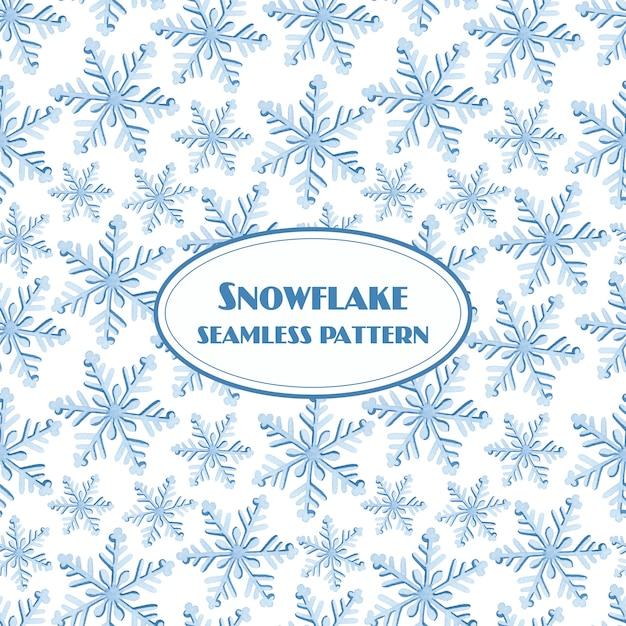 Akwarela Wzór śnieżynka Na Białym Tle Premium Wektorów